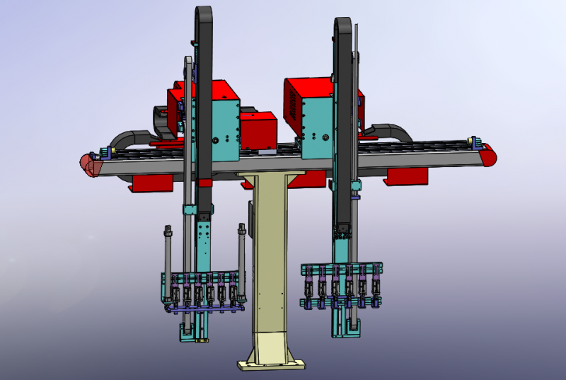 What are the benefits of using robots for injection molding machines